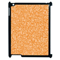 Orange Pattern Apple Ipad 2 Case (black) by Valentinaart