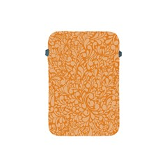 Orange Pattern Apple Ipad Mini Protective Soft Cases by Valentinaart