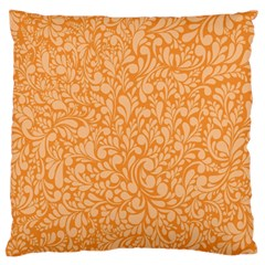 Orange Pattern Large Flano Cushion Case (one Side) by Valentinaart