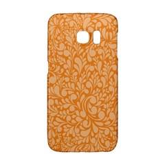 Orange Pattern Galaxy S6 Edge by Valentinaart