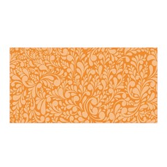 Orange Pattern Satin Wrap by Valentinaart