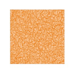 Orange Pattern Small Satin Scarf (square) by Valentinaart