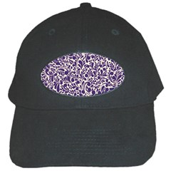Purple Pattern Black Cap by Valentinaart