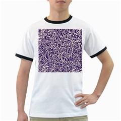 Purple Pattern Ringer T Shirts by Valentinaart
