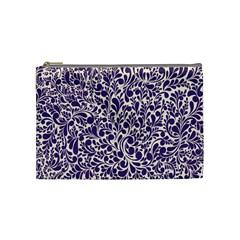 Purple Pattern Cosmetic Bag (medium)  by Valentinaart