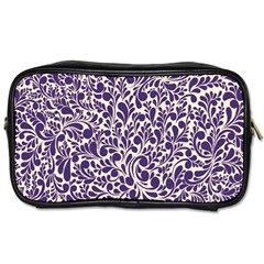 Purple Pattern Toiletries Bags by Valentinaart