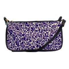 Purple Pattern Shoulder Clutch Bags by Valentinaart