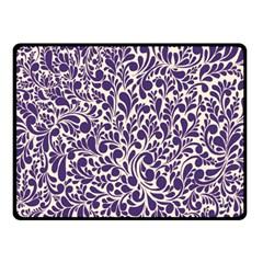 Purple Pattern Fleece Blanket (small) by Valentinaart