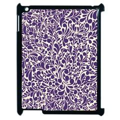 Purple Pattern Apple Ipad 2 Case (black) by Valentinaart