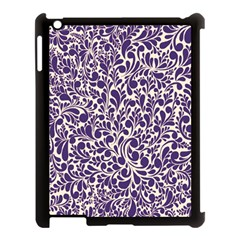 Purple Pattern Apple Ipad 3/4 Case (black) by Valentinaart