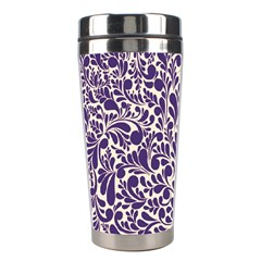 Purple Pattern Stainless Steel Travel Tumblers by Valentinaart