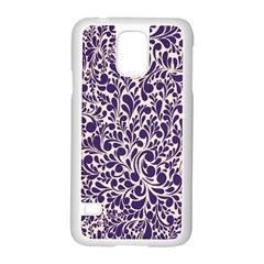 Purple Pattern Samsung Galaxy S5 Case (white) by Valentinaart