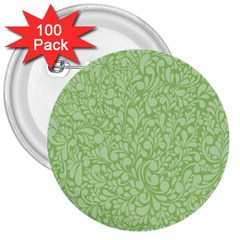 Green Pattern 3  Buttons (100 Pack)  by Valentinaart