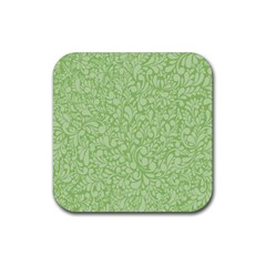 Green Pattern Rubber Square Coaster (4 Pack)  by Valentinaart
