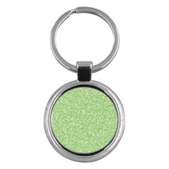 Green Pattern Key Chains (round)  by Valentinaart