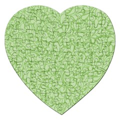 Green Pattern Jigsaw Puzzle (heart) by Valentinaart