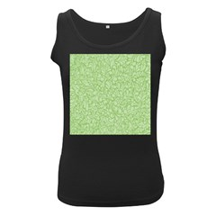Green Pattern Women s Black Tank Top by Valentinaart