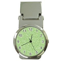 Green Pattern Money Clip Watches by Valentinaart