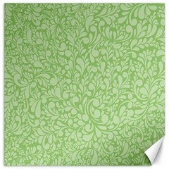 Green Pattern Canvas 16  X 16   by Valentinaart
