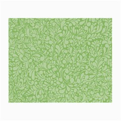 Green Pattern Small Glasses Cloth (2 Side) by Valentinaart