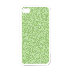 Green Pattern Apple Iphone 4 Case (white) by Valentinaart