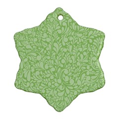 Green Pattern Ornament (snowflake) by Valentinaart