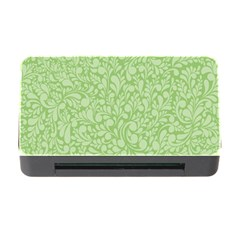 Green Pattern Memory Card Reader With Cf by Valentinaart
