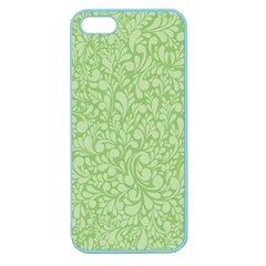 Green Pattern Apple Seamless Iphone 5 Case (color) by Valentinaart