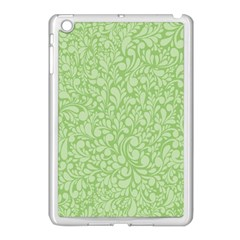 Green Pattern Apple Ipad Mini Case (white) by Valentinaart