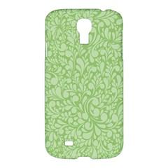Green Pattern Samsung Galaxy S4 I9500/i9505 Hardshell Case by Valentinaart
