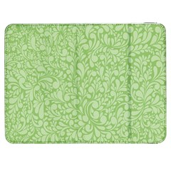 Green Pattern Samsung Galaxy Tab 7  P1000 Flip Case by Valentinaart