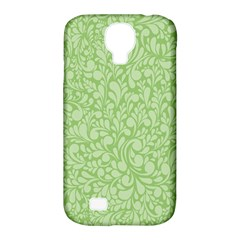 Green Pattern Samsung Galaxy S4 Classic Hardshell Case (pc+silicone) by Valentinaart