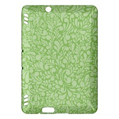 Green Pattern Kindle Fire Hdx Hardshell Case by Valentinaart