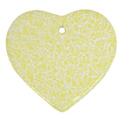 Yellow Pattern Ornament (heart) by Valentinaart