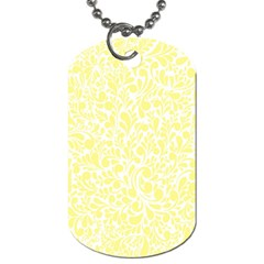Yellow Pattern Dog Tag (two Sides) by Valentinaart