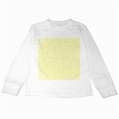 Yellow Pattern Kids Long Sleeve T Shirts by Valentinaart