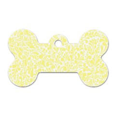 Yellow Pattern Dog Tag Bone (one Side) by Valentinaart