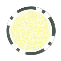 Yellow Pattern Poker Chip Card Guard by Valentinaart