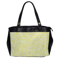 Yellow Pattern Office Handbags by Valentinaart