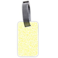 Yellow Pattern Luggage Tags (one Side)  by Valentinaart