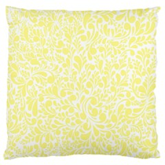 Yellow Pattern Large Cushion Case (two Sides) by Valentinaart