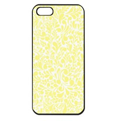 Yellow Pattern Apple Iphone 5 Seamless Case (black) by Valentinaart