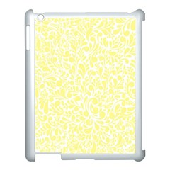 Yellow Pattern Apple Ipad 3/4 Case (white) by Valentinaart