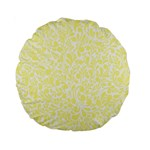 Yellow pattern Standard 15  Premium Round Cushions Front