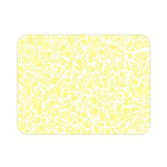 Yellow Pattern Double Sided Flano Blanket (mini)  by Valentinaart