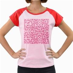 Leopard Pink Pattern Women s Cap Sleeve T Shirt by Valentinaart
