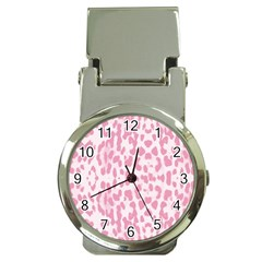 Leopard Pink Pattern Money Clip Watches by Valentinaart