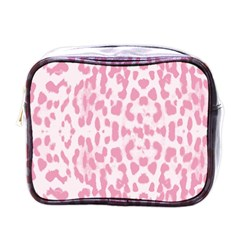 Leopard Pink Pattern Mini Toiletries Bags by Valentinaart