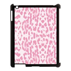 Leopard Pink Pattern Apple Ipad 3/4 Case (black) by Valentinaart