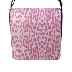 Leopard Pink Pattern Flap Messenger Bag (l)  by Valentinaart